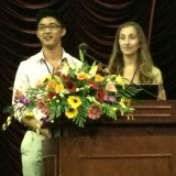 2nd year SP students Jared Izumi & Haley Taitz presenting on successful middle school transition