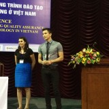 3rd year students Ellen Garibaldi & Matt Pasillas presenting on LGBTQ issues, very cutting edge in Vietnam