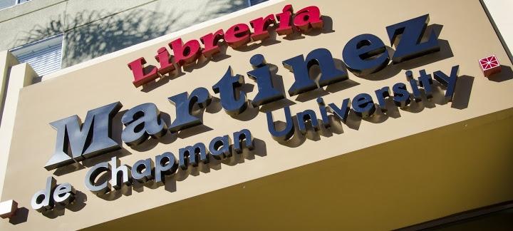 Libreria Martinez de Chapman University sign.