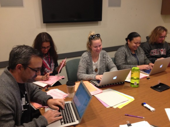 students attending the GradPower writing workshops
