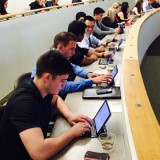 Students at ectronic medical record workshop