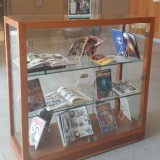 Library comic display.