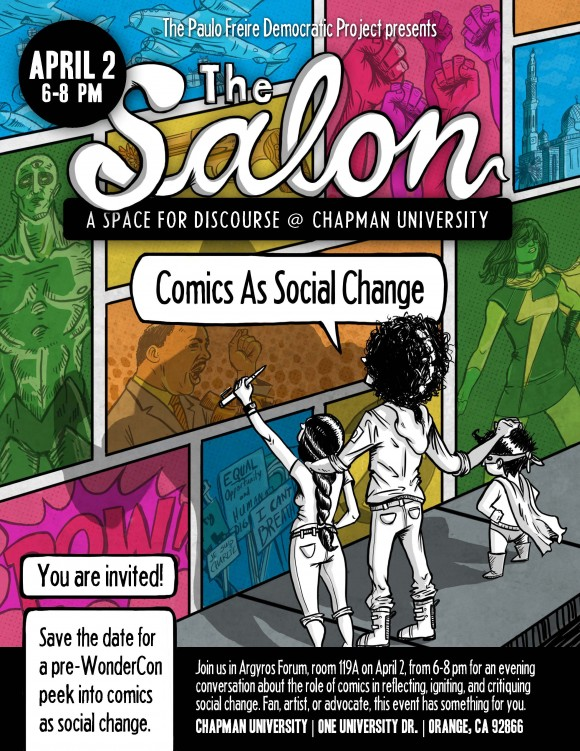 The Salon: Comics as Social Change art cover