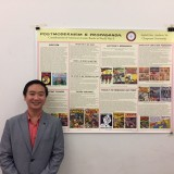 Andrew Vo (Shown in photo) collaborated with Isabel Hsu on this poster presentation