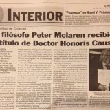 Announcement in Argentina Newspaper