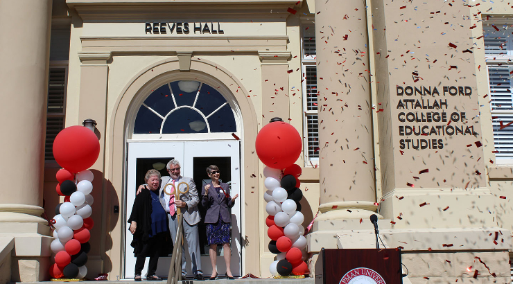 Reeves Hall Ribbon Cutting