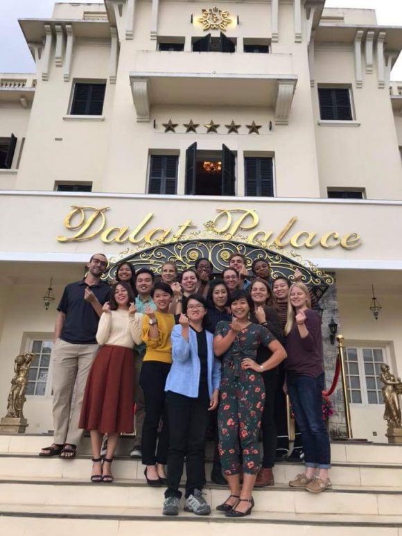 Caitlyn and her fellow Fulbright cohort member at the Mi-Year Conference in Dalat, Vietnam
