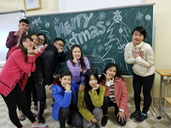 Special Christmas surprise from Caitlyn's non-English major students