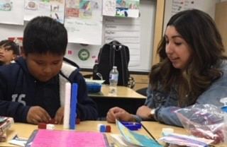 Natalie Sanchez tutoring local student