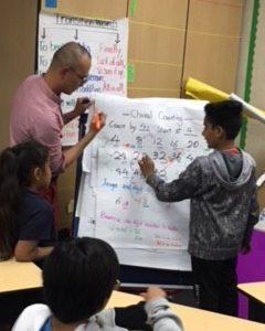 Lufei Lin leading a math lesson
