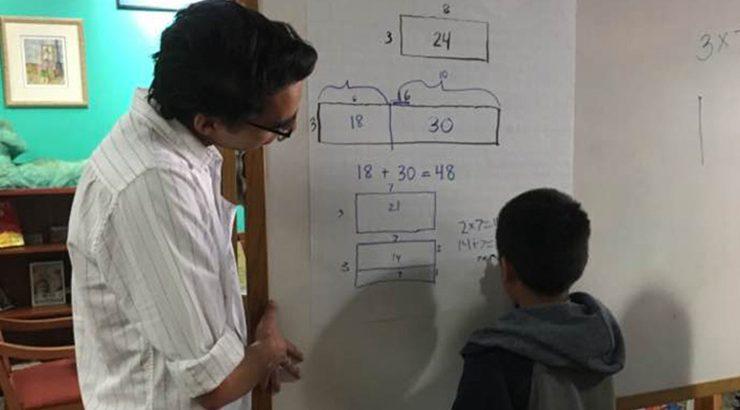 Chapman tutor with student
