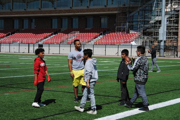 Play on Wilson Field with Jeremiah McKibbins and Dr. Quaylan Allen
