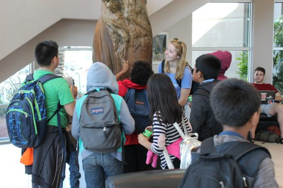 Higher Ground students in Dodge College Lobby