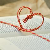 Book with a heart string