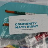 Salk-Chapman Community Math Night family take-home packet