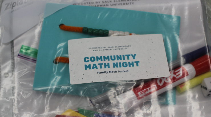 Salk-Chapman Community Math Night family take-home packet
