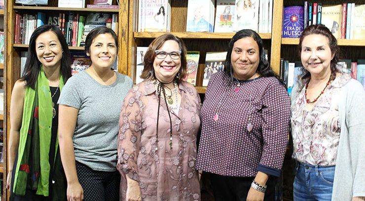 Centro guest speaker Mercedes Martinez with Attallah College faculty and student