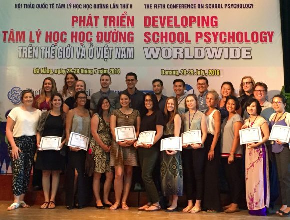 Chapman students and faculty at the 5th Conference on School Psychology in Vietnam