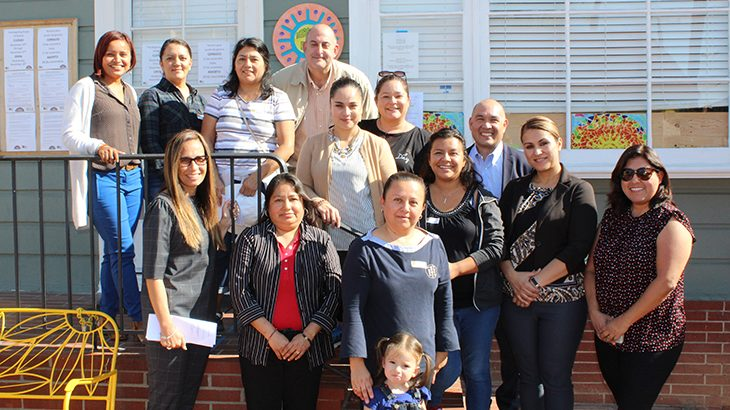 El Sol Parent Learning Walk group picture