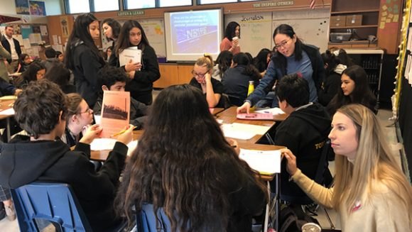 Yorba students and Chapman mentors