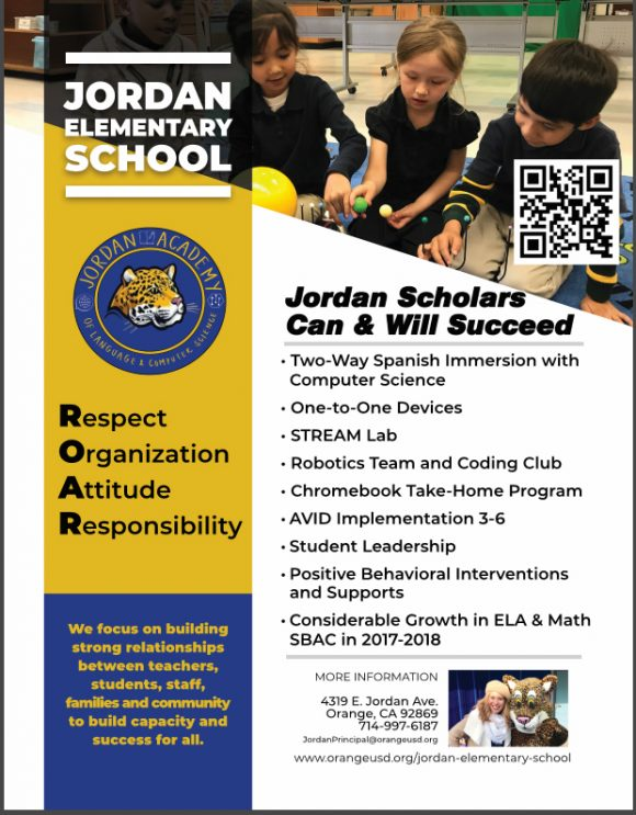 Jordan Academy flyer