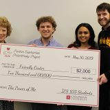 PEPP check presentation to Friendly Center Executive Director
