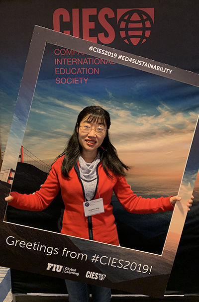 Jingwen Xing at the Comparative and International Education Society (CIES) Annual Meeting