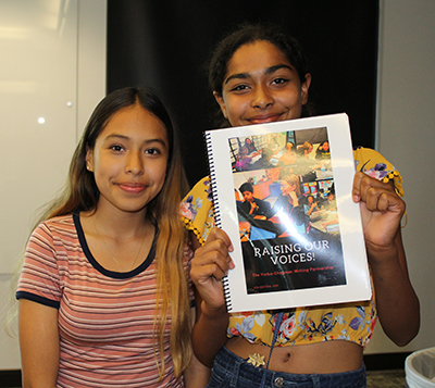 Yorba middle school students at the Yorba-Chapman Publishing Party