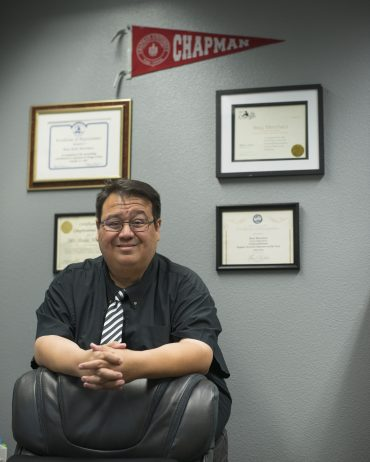 Beau Menchaca in his office