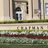 Reeve Hall behind Chapman sign