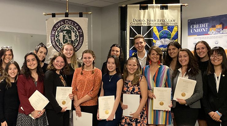 Chapman's Kappa Delta Pi Education Honor Society 2019 New Initiates