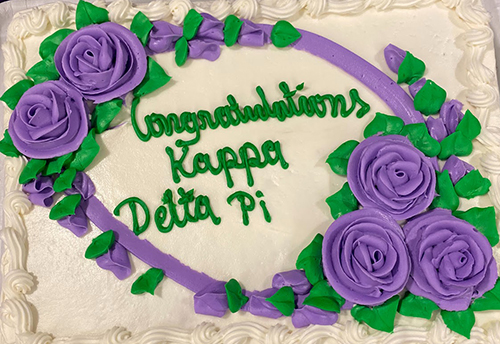 Chapman's Kappa Delta Pi Education Honor Society celebratory cake