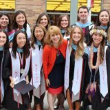 Dr. Roxanne Greitz Miller with MACI '18 cohort at Commencement