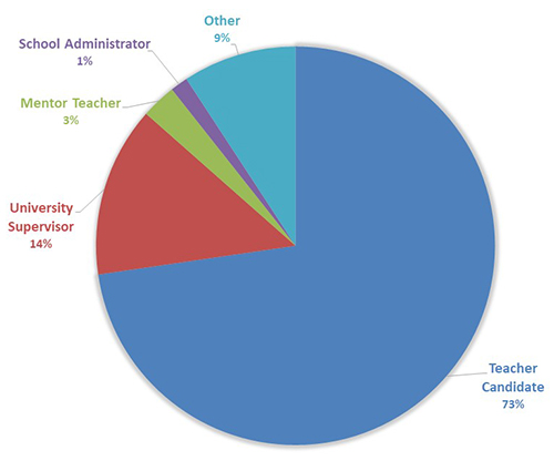 Pie chart showing types of webinar participants