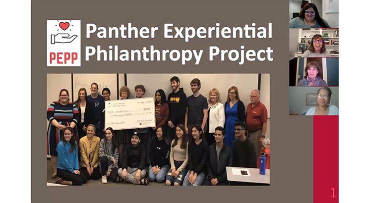 Screenshot of PEPP Fall 2020 virtual grant award presentation