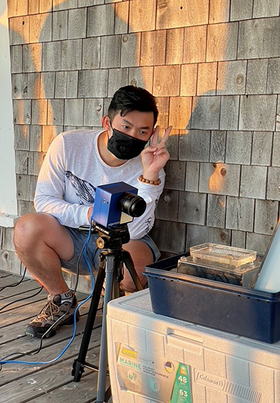 Peter Ly at the Shoals Marine Laboratory in Maine