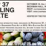 Prop 37 Labeling Debate