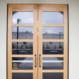 Cypress School Building doors