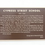 Cypress School Building plaque