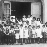 Photo of Students and Teacher taken 1939.