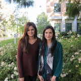 Chapman University Seniors Maheen Kibriya (right) and Shehzein Khan (left)