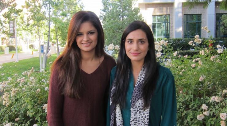 Chapman University Seniors Maheen Kibriya (right) and Shehzein Khan (left)