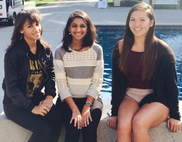 WIST board members: Vice-President Mirabel Rice (left), President Aneesha Prakash (center), Information and Marketing Director Taylor Krause (right)
