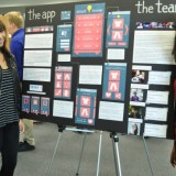 Among the students presenting at Student Research Day were computer science majors Mirabel Rice and Aneesha Prakash, who are creating an app to help teens with autism select outfits that reflect social norms.