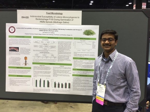 Tushar Sawant (Class of 2015). Finalist in the Food Microbiology Graduate Student Oral Competition.