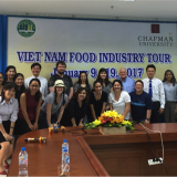 Students in the Vietnam Food Industry Tour course January 2017
