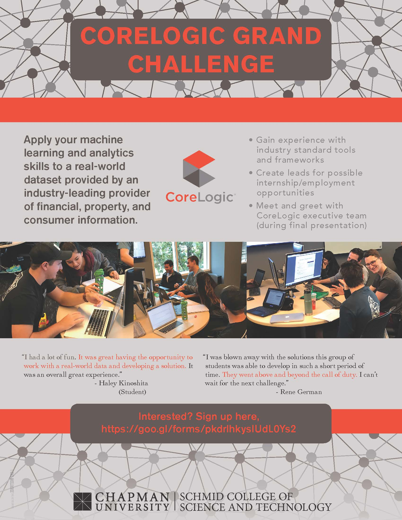 CoreLogic Challenge flyer