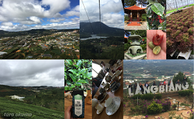 Collage of photos from Da Lat, Vietnam.