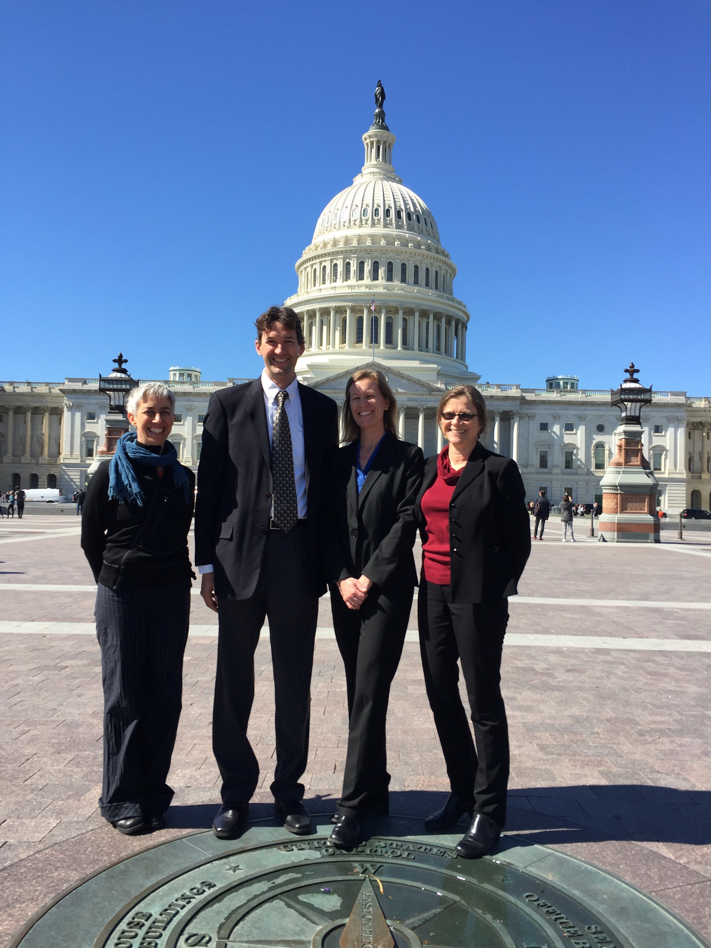 Our advocacy group included, pictured from left to right, Amy Zanne (George Washington University), Steve Allison (UC Irvine), Jennifer Funk (Chapman University), and Jutta Burger (Irvine Ranch Conservancy).