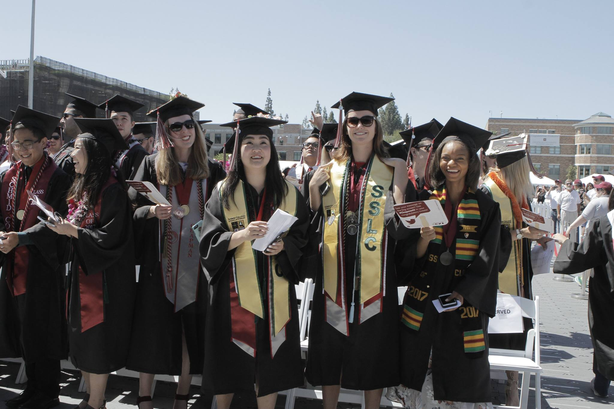 Schmid College graduates at the 2017 Commencement ceremony